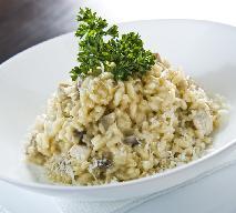 Porowe risotto z dorszem z menu beszamel