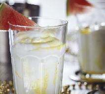 Gold Kiss - drink z arbuzem i lodami waniliowymi: przepis
