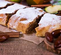 Strudel jabłkowy z ciasta francuskiego