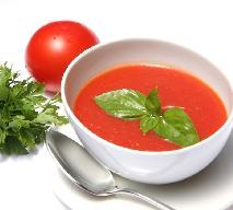 Zupa pomidorowa z przecieru pomidorowego z serem pleśniowym