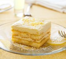Cytryniak - szybkie ciasto z kremem cytrynowym na biszkoptach