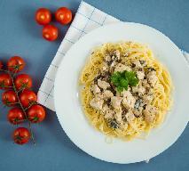 Aksamitne spaghetti z sosem z pieczonego kurczaka - oszczędne i pyszne danie z resztek świątecznego obiadu