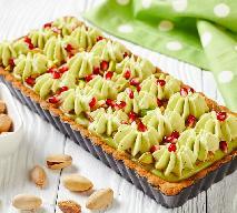 Mazurek pistacjowy: przepis na wielkanocne ciasto na kruchym spodzie z nadzieniem pistacjowym